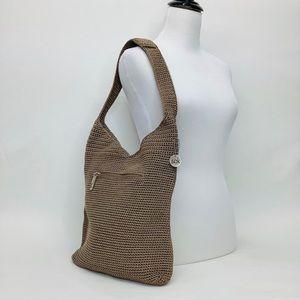 The Sak NEW Woven Crotchet Hobo Bag Tote